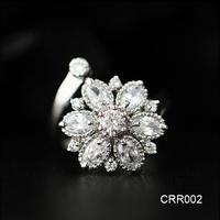 Alibaba Golden Jewelry Manufacturer China Open Brilliant Fake Diamond Wedding Rings Luxury Jewelry