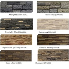 Polyurethane Beauty Cheap Decorative Easy Installation Wall Panel PU faux stone wall panels