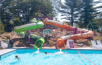 Closed plastic water slide tube for sale