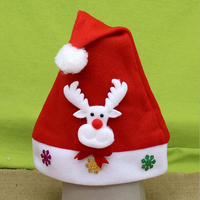 Wholesale Red Santa Headwear Supplies Non-Woven Child Christmas Hat for Christmas Day