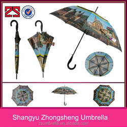 automatic straight wholesale umbrella fiberglass ribs with pictures of cities