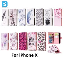 for iPhone X 9 Card Slots PU Leather Case alibaba express china ,leather for iphone case