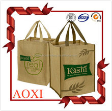 Hot china products top quality custom recycle printed eco friendly jute promotional hemp shopping bags wholesale