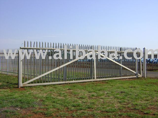 Stainless steel palisade fence-gate