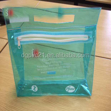 Small Clear PVC Plastic Cosmetic Train Case Travel Makeup Bag