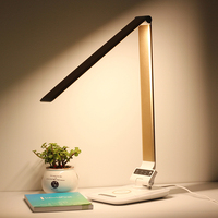 Wireless charger led desk lamp for iphone 8 samsung s5 new design rgb night light changing
