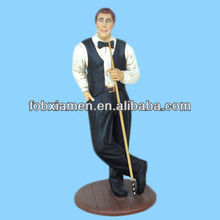 Billiard Player Sports Figures Wholesale Resin Statue