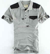 100% cotton heavy weight polo shirt with stripe design t-shirt