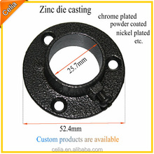 Made in China popular 25mm round black powder coating zinc alloy closet rod holder