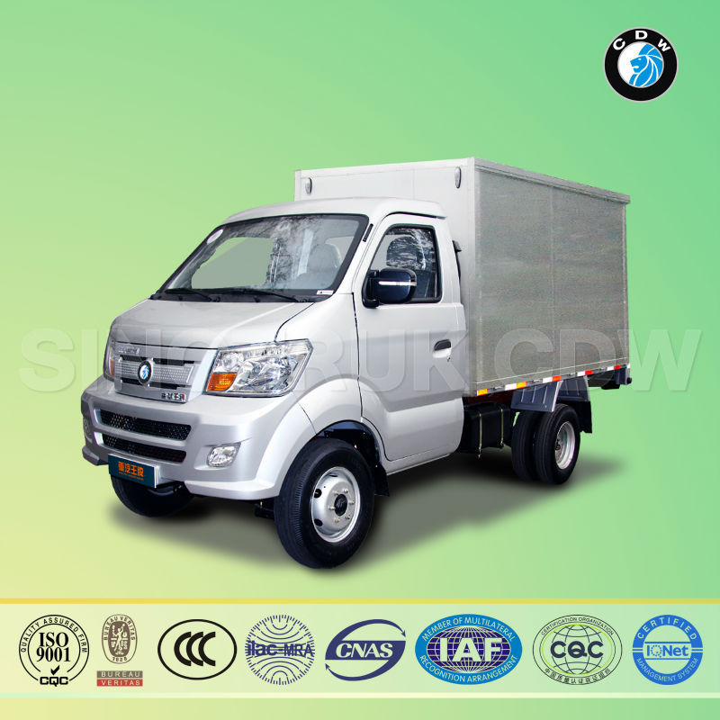 Sinotruk CDW LK717P6B diesel pickup right hand drive box truck with side door for sale