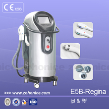 E5B Newest vertical SHR 2 handles Hair OPT IPL RF hair removal & skin rejuvenation