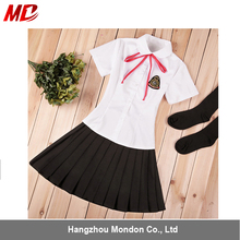 T-shirt skirt and ties Japanese girl Uniforms for high School
