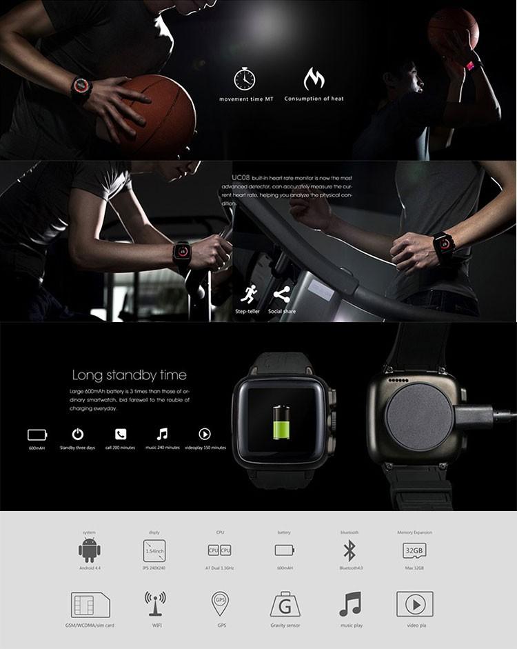 Водонепроницаемый 3 Г wi-fi gt08 wi-fi смарт-часы, android 4.4 OS dz09 смарт часы-телефон с сим слот для карт