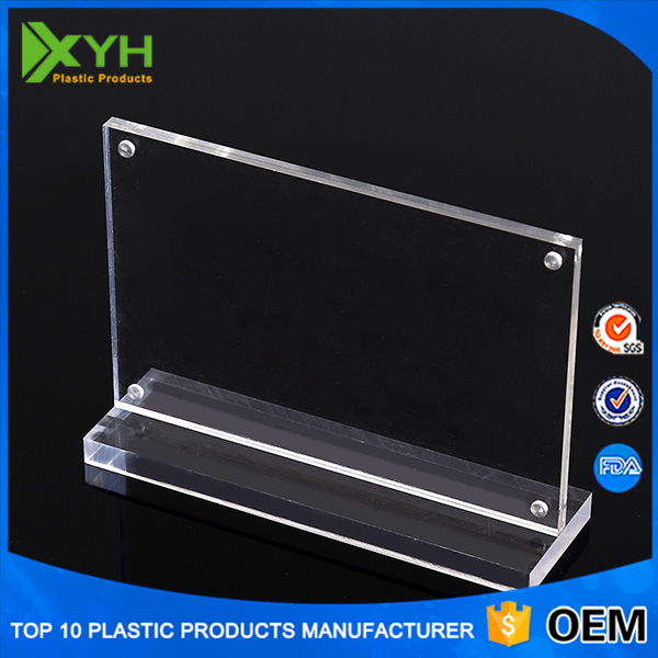 T Type Clear Plastic Acrylic Table Sign Display Holder Frame Stand