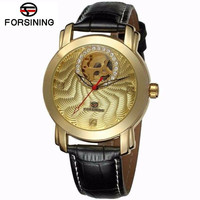 2016 FORSINING Brand Women Automatic Mechanical Watch Leather Lady Wristwatches