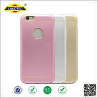 2 in 1 combo Thin Inside TPU + Aluminium Metal Back Cover Case for iPhone 6