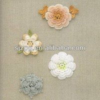 2014 new knitted decorative crochet handmade flowers