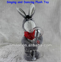 32CM Battery Operated Singing and Dancing Plush Animal Toys