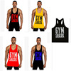 2016 high quality custom made OEM Gold's GYM 100 cotton Y bodybuilding tank top men