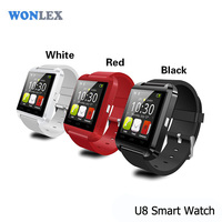 Wonlex Cheap price of smart watch phone u8 bluetooth smartwatch,Plastic u8 smart watch,black white green color u8
