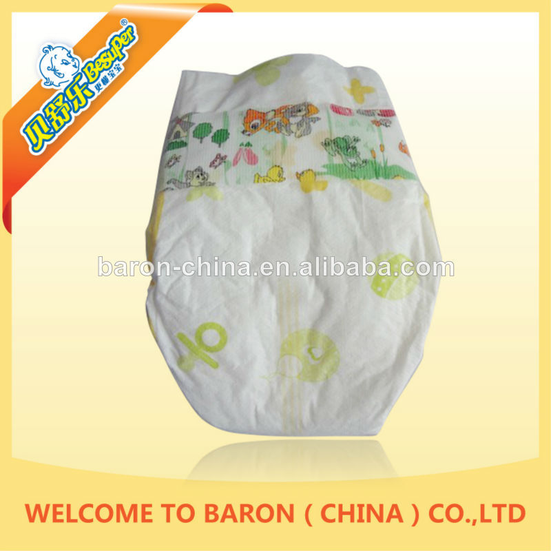 The 2014 China newest product wholesale disposable baby diapers cartoon