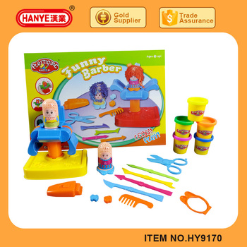 HY9170 Child plasticine magical toy funny barber play set dough