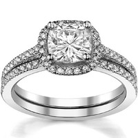 WRSS06 New Arrival Alibaba Supplier 925 Sterling Silver Zirconia With Side Stones Square Shape Wholesale Ring