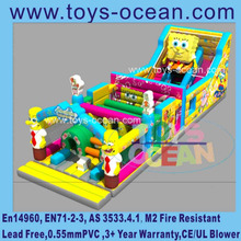 New design sponge inflatable bouncy jumping house outdoor playgrouds for kids
