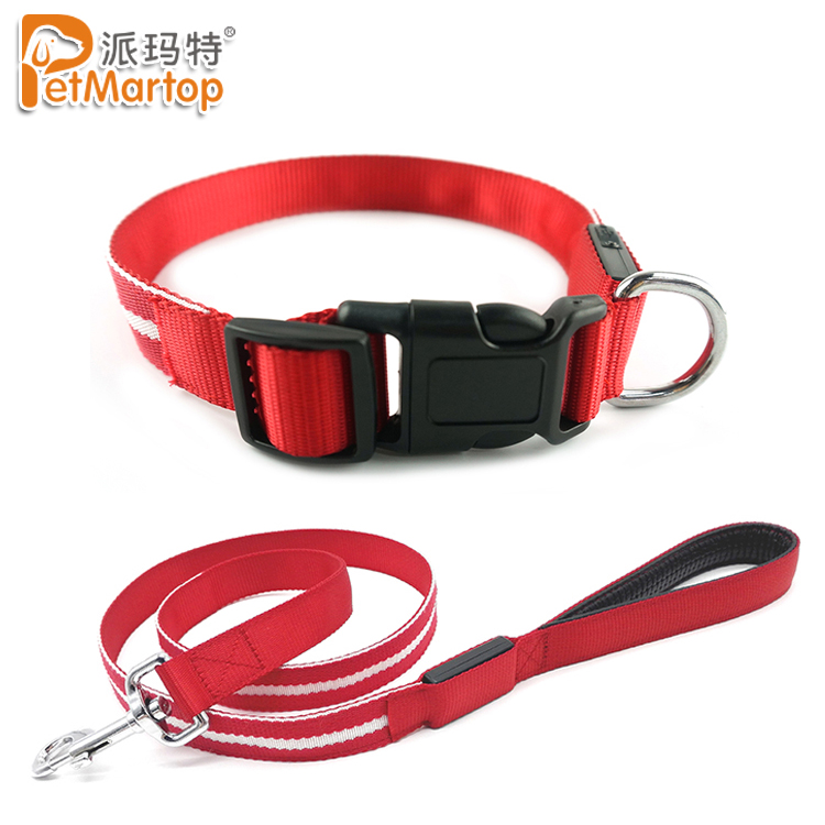 Improved Safety USB Rechargeable Glowing In The Dark 6 Colors LED Light Up Dog Collar and Leash
