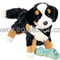 imprinted plush stuffed soft Trevor Bernese Mountain Dog custom logo t-shirt bandana scarf toys