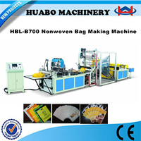 The newest Manufacturer HBL-B600/700/800 polythene d cut nonwoven bag machine