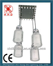 hotel glass hanging lamp, cyrtstal wedding chandelier square pen