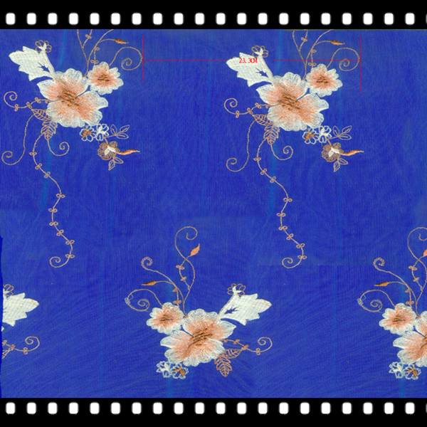 Beautiful flower designs mesh embroidery italian lace fabric