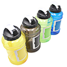 hot novelty items custom logo flip top shaker cups water bottle with storage