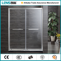 customized Chrome Bifold Shower Door Enclosure cubicle