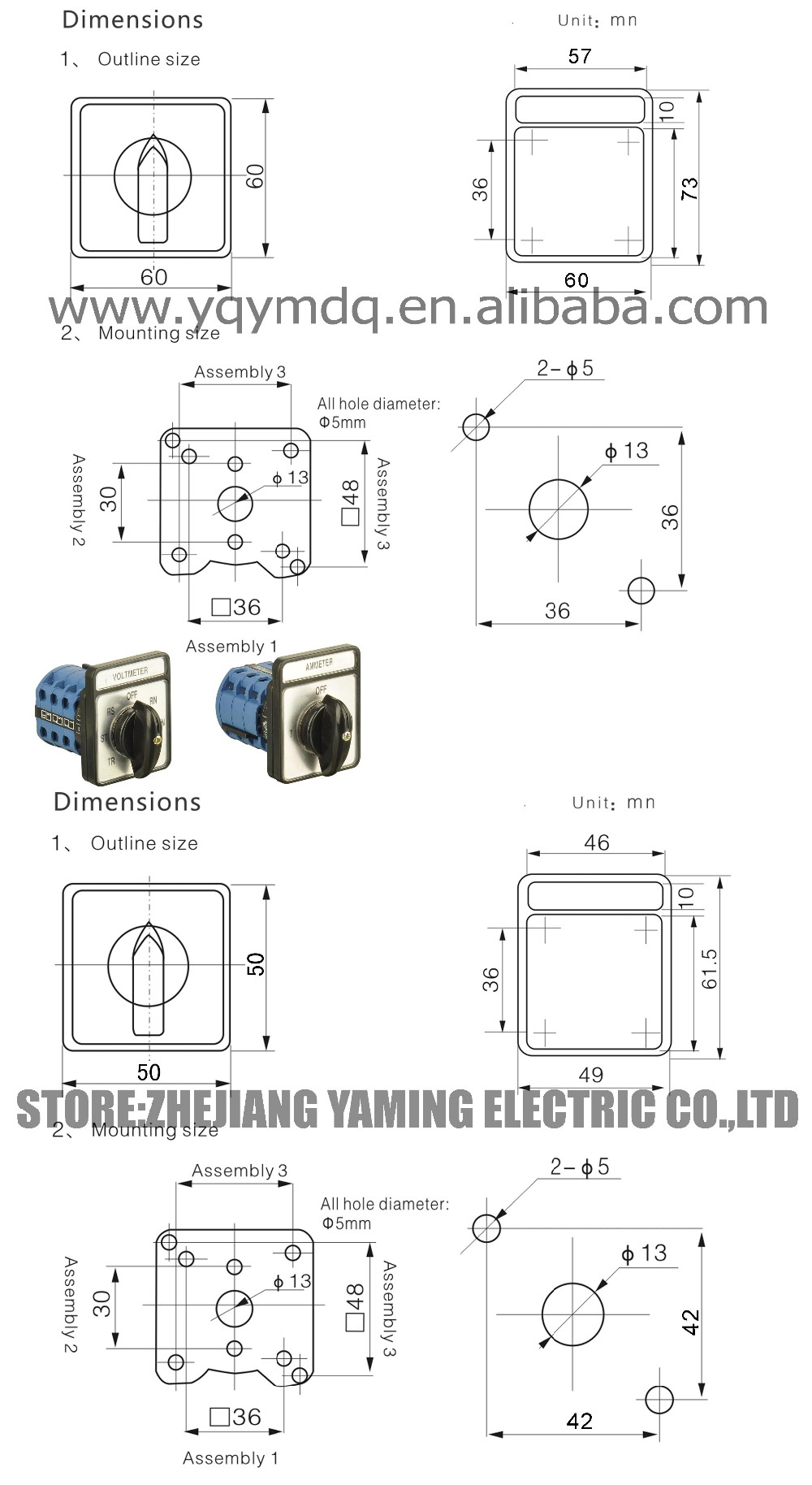 Yaming cam switch lw26 20lh33 ammeter current conversion silver yaming cam switch lw26 20lh33 ammeter current conversion silver contact 20a 3 poles cheapraybanclubmaster Image collections