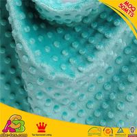 2015 hot sale high quality Oeko-tex 100 and SGS knitted minky dot fabric