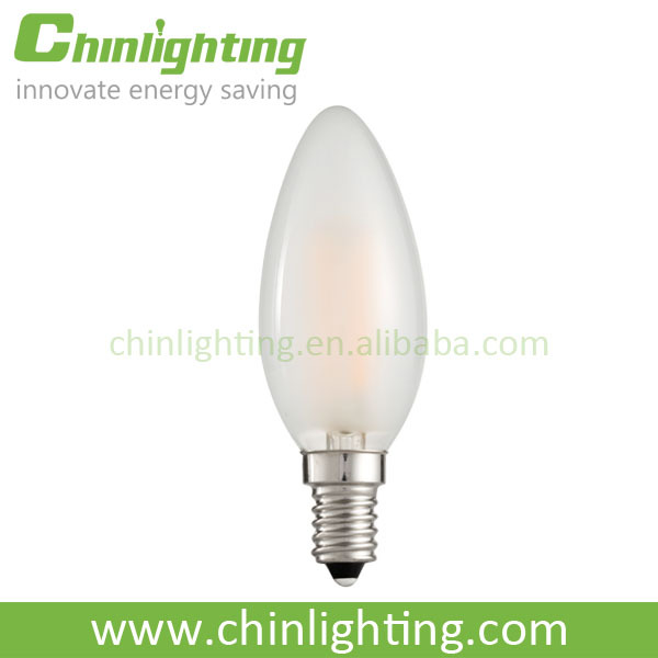 Led candle bulb cap small edison screw E12 E14 clear glass filament light bulb