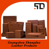 New Trendy Quality Supply Leather Hotel Accessories Manufacturer