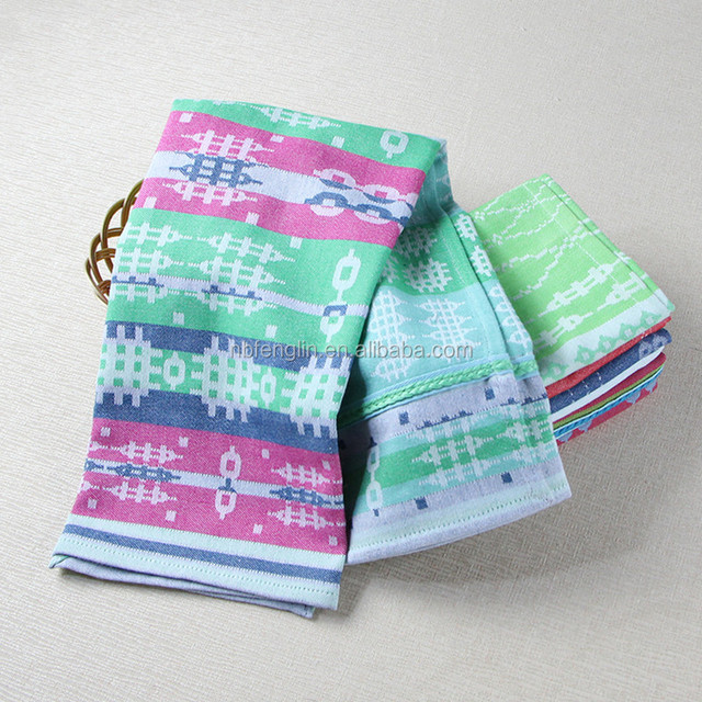 Alibaba China Manufacturer Table Decro Cloth Custom Kitchen Jacquard Cotton Tea Towels