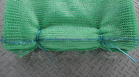 Green 40x60 agricultural Raschel sacks for packing vegetables