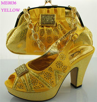 ME0036 yellow New arrival 2015 sexy African model fashion style women elastic button high heel pump all match party shoes