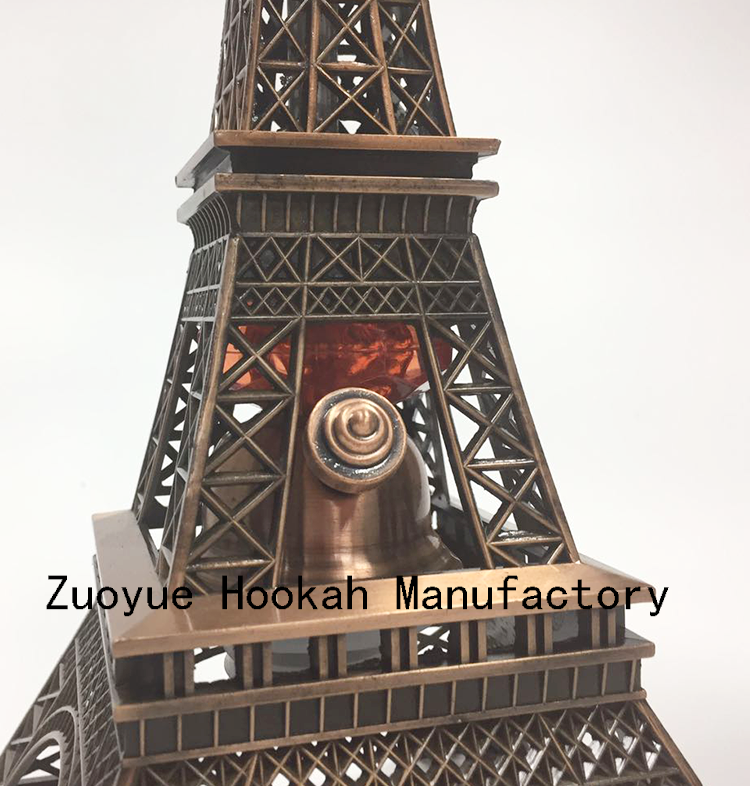 Eiffel Tower hookah high quality wholesale hookah manufacturer two hose