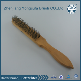 Wooden Handle Steel Wire Brush for cleaning