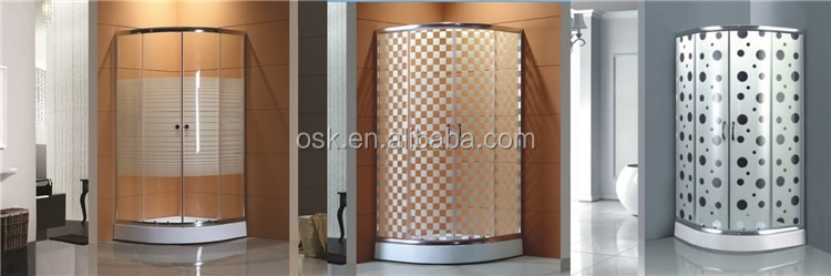 Kinds of bathroom designs free standing glass shower enclosure from Hangzhou manufacturer