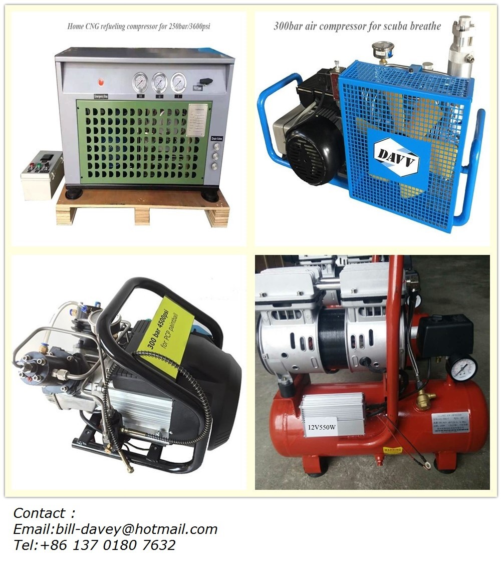 High pressure air compressor for scuba diving CNG fill tank PCP Airsoft & Paintball SCBA breathe Snorkeling