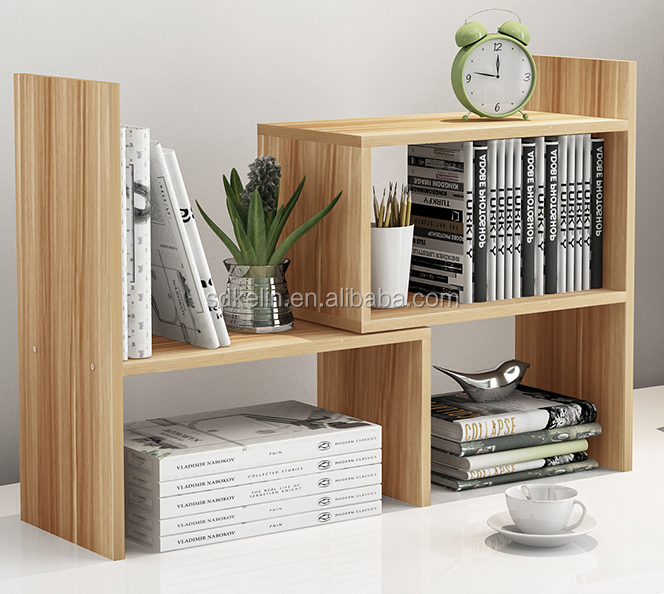 Modern design mini bookcase on study desk