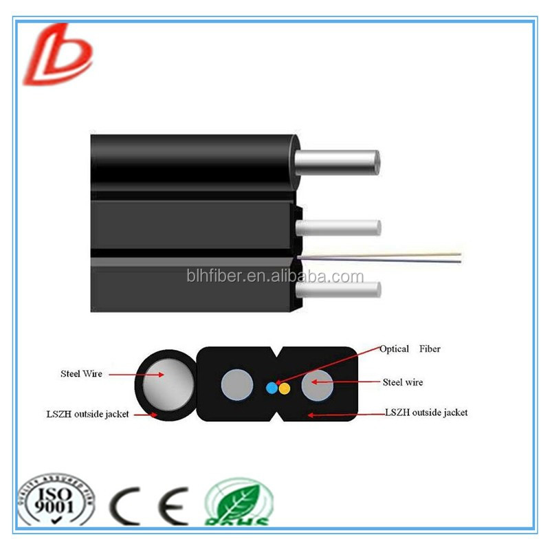 LSZH jacket outdoor 2 core G.657A FTTH fiber optic drop cable