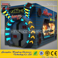 Blood Road 5D cinema simulator hydraulic power 9 seats system, theme park 9D cinema electric control system