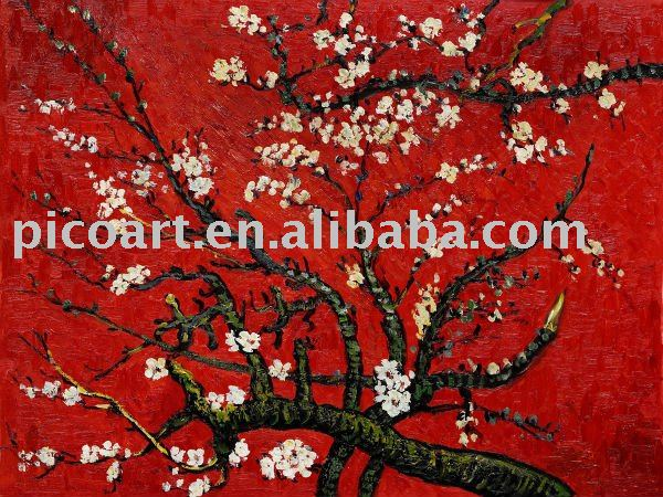 spring art oil painting(Hand painted oil reproduction of a famous Van Gogh painting)